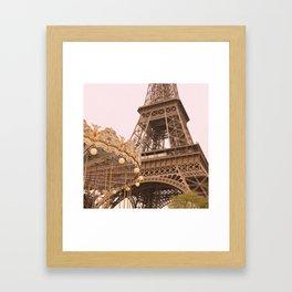 le Carrousel de la Tour Eiffel Framed Art Print