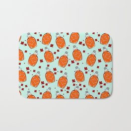 Super Canadian Maple Syrup Pattern Bath Mat