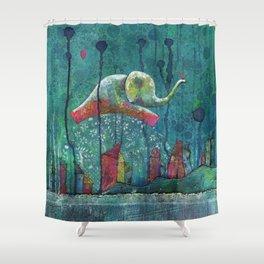 Elefly Shower Curtain