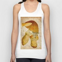 mortal instruments Tank Tops featuring Mortal mushroom by Joe Ganech