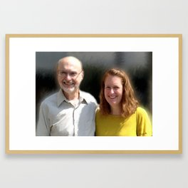 Josette and her Dad Framed Art Print