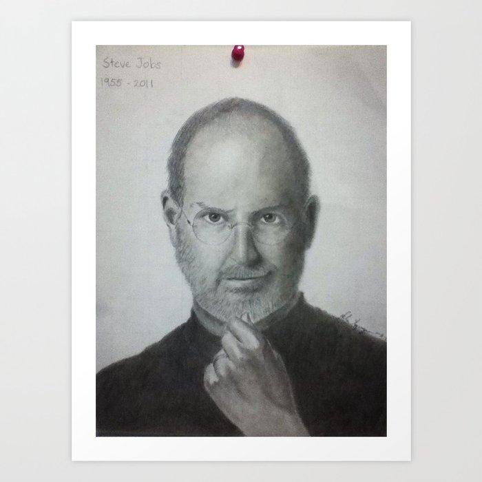 Steve Jobs Art Print By Helinguyen