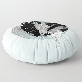 Moonwave (Or the Muse & the Seemingly Eternal Search for Existence in the Sea of Darkness & Dreams) Floor Pillow