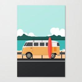 Road Trip on Van Canvas Print