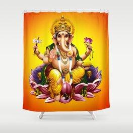 Hindu Ganesha 2 Shower Curtain