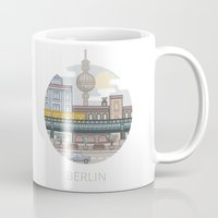 berlin Mugs featuring Berlin by fabric8