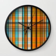 Rusty Teal Wall Clock