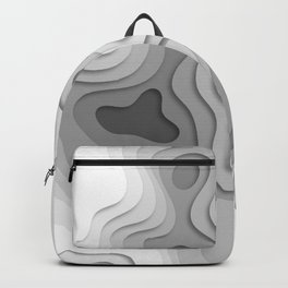 White Topographic Map Backpack