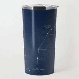 Scorpius constellation star map Travel Mug