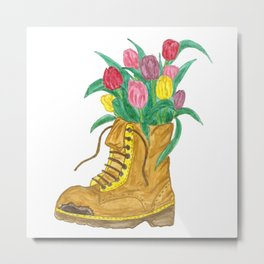 Spring and tulips Metal Print
