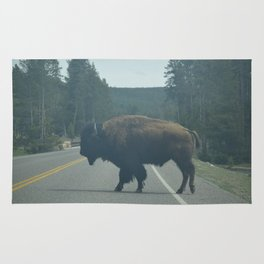 Why Did the Bison Cross the Road? Rug