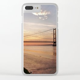 Humber Bridge Sunset Clear iPhone Case