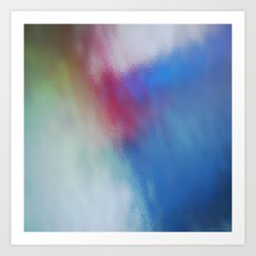 Abstract Square - Blue-Red Art Print