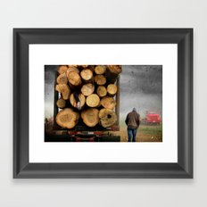 3's A Crowd Framed Art Print