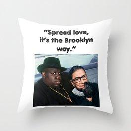 B.I.G & R.B.G  Throw Pillow