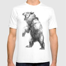 Owlbear LARGE White Mens Fitted Tee