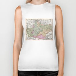 Vintage Map of Transylvania (1720) Biker Tank
