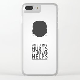 Pride Only Hurts Clear iPhone Case