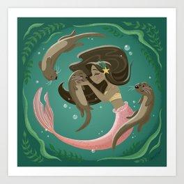 Otterly Adorable Art Print