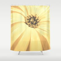 champagne Shower Curtains featuring Champagne Petals by RichCaspian