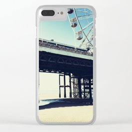 Ferris wheel and pier with light leak Clear iPhone Case