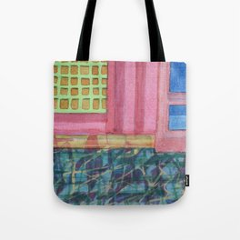 Interieur with pink Wall Tote Bag