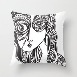 Complicated explantion Throw Pillow