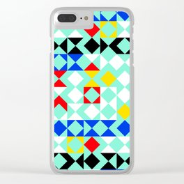 Geometric XVI Clear iPhone Case