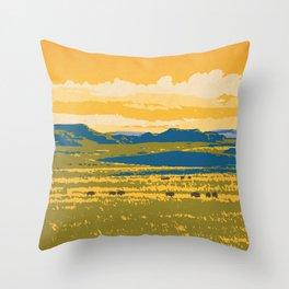Grasslands National Park Poster Throw Pillow