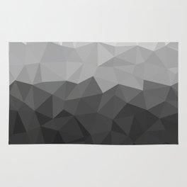 Low polygon monochromatic minimalism Rug
