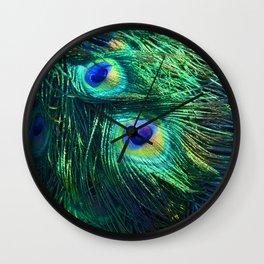 Peacock Feathers #1 #decor #art #society6 Wall Clock