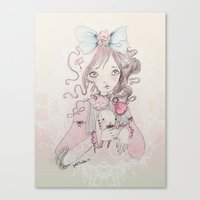 lolita Canvas Prints featuring Lolita by GABI FVENTES