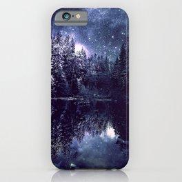 A Cold Winter's Night Midnight Blue Winter Wonderland iPhone Case