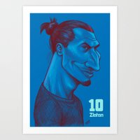 zlatan Art Prints featuring Zlatan 10 by SketcherOnline