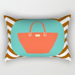 Beach Bag - Cute Summer Accessories Collection Rectangular Pillow