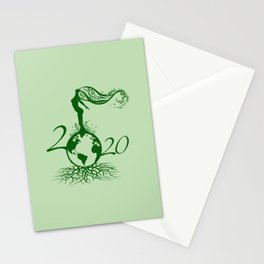 Mother Earth 2020 - Green Stationery Cards