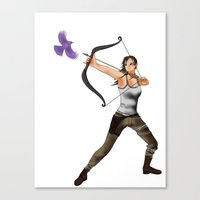 lara croft Canvas Prints featuring Lara Croft  by Larkee Beatz