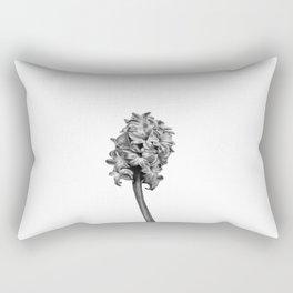 Black and White Hyacinth Rectangular Pillow
