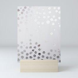 Silver and White Mini Art Print