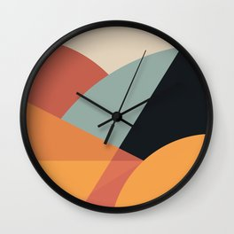 Bright Abstract Wall Clock