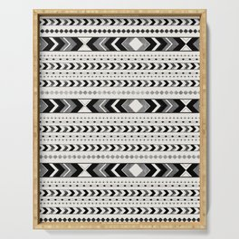 Tribal Arrow Boho Pattern #2 #aztec #decor #art #society6 Serving Tray