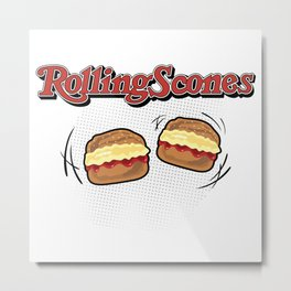 The Rolling Scones: scones and stones! Metal Print