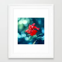 hibiscus Framed Art Prints featuring Hibiscus by Arefin