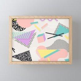 80s / 90s RETRO ABSTRACT PASTEL SHAPE PATTERN Framed Mini Art Print