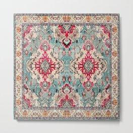 N132 - Heritage Oriental Traditional Vintage Moroccan Style Design Metal Print