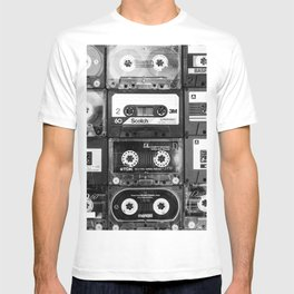 Something Nostalgic - black and white #decor #buyart #society6 T-shirt