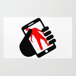 smartphone zombie logo Rug