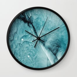 Ocean Waves Abstract Painting | Turquoise art | Sea Wall Clock