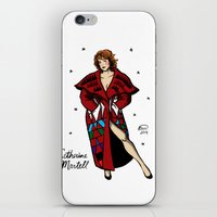 martell iPhone & iPod Skins featuring Catherine Martell Pin-up by Emma Munger