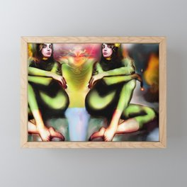 Green Night Framed Mini Art Print
